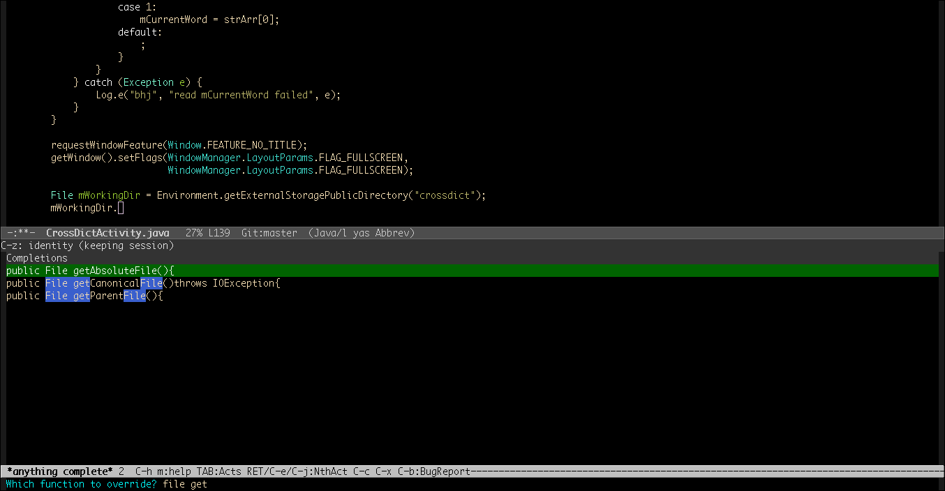 Doing Android Java Programming in Emacs